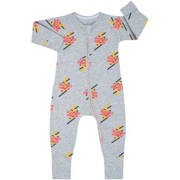 Textil Criança Macacões/ Jardineiras DIM Pelele manga larga con cremallera Cinza