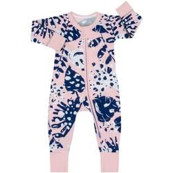 Textil Rapariga Macacões/ Jardineiras DIM Pelele manga larga con cremallera Rosa
