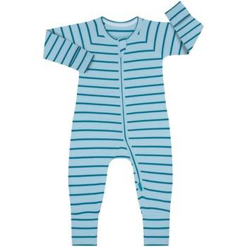 Textil Criança Macacões/ Jardineiras DIM Pelele manga larga con cremallera Azul