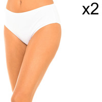 Roupa de interior Mulher Cuecas PLAYTEX Pack-2 Braguitas Branco