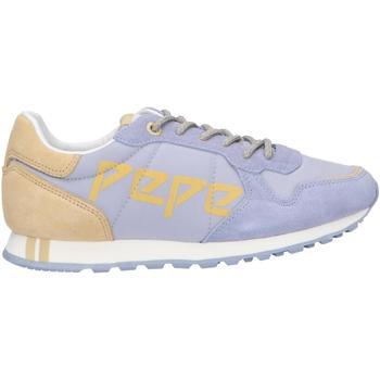 Sapatos Mulher Sapatilhas Pepe jeans PLS30984 VERONA LOGO Azul