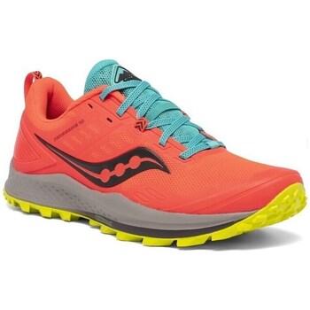 Sapatos Mulher Sapatilhas de corrida Saucony Peregrine 10 Vermelho,Azul