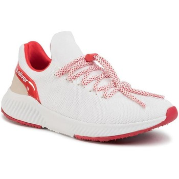 Sapatos Mulher Sapatilhas S.Oliver White Red Flat Shoes White