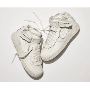 Sapatos Sapatilhas Nike Air Force 1 high x Comme des Garçons WHITE/WHITE-BLACK WHITE