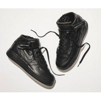 Sapatos Sapatilhas de cano-alto Nike Air Force 1 high x Comme des Garçons  BLACK/BLACK-WHITE-BLACK