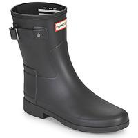 Sapatos Mulher Botas de borracha Hunter ORIGINAL REFINED SHORT Preto