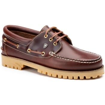 Sapatos Homem Sapatos & Richelieu Iberico Shoes Mocasin nautico de hombre de piel by Sachini Marron