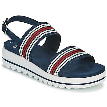 Sapatos Mulher Sandálias Jana STROMAELA Marinho / Vermelho / Branco