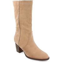 Sapatos Mulher Botas Buonarotti 1A-0462 Beige