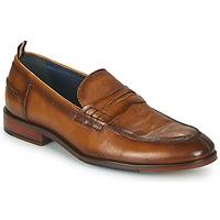 Sapatos Homem Mocassins Azzaro NORDEN Conhaque
