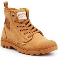 Sapatos Mulher Sapatilhas de cano-alto Palladium Manufacture Pampa HI ZIP NBK 96440-717-M brown