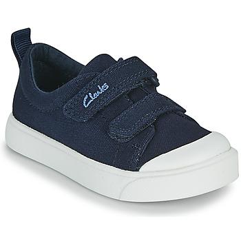 Sapatos Criança Sapatilhas Clarks CITY BRIGHT T Marinho