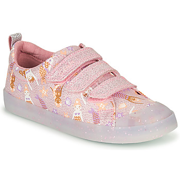 Sapatos Rapariga Sapatilhas Clarks FOXING PRINT T Rosa