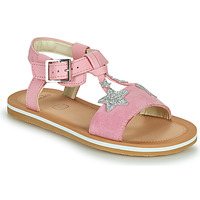 Sapatos Rapariga Sandálias Clarks FINCH SUMMER K Rosa