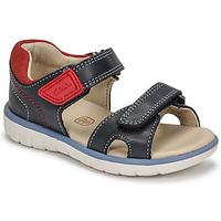 Sapatos Rapaz Sandálias Clarks ROAM SURF K Marinho / Vermelho