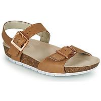 Sapatos Criança Sandálias Clarks RIVER SAND K Camel