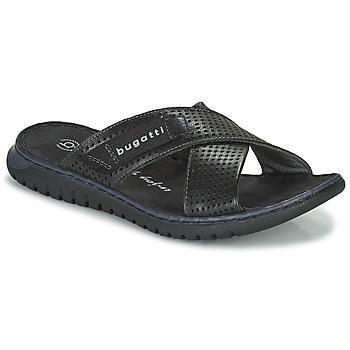 Sapatos Homem chinelos Bugatti IDAHO Preto
