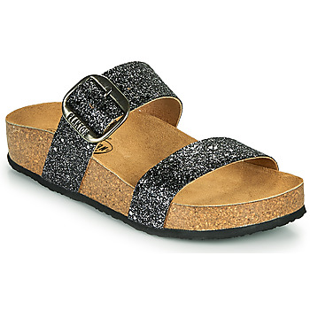 Sapatos Mulher Chinelos Plakton ROCK Preto / Brilhante
