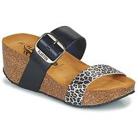 Sapatos Mulher Chinelos Plakton SO ROCK Azul / Leopardo