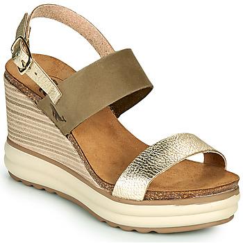 Sapatos Mulher Sandálias Plakton PLAKA Cáqui / Ouro