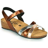 Sapatos Mulher Sandálias Plakton NOTE Cobre / Rosa / Prata