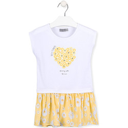 Textil Rapariga Vestidos curtos Losan 016-7021AL Branco