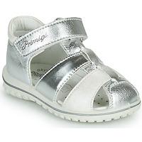 Sapatos Rapariga Sandálias Primigi GABBY Prata / Branco