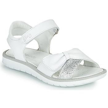 Sapatos Rapariga Sandálias Primigi LOLA Branco / Prata