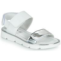 Sapatos Rapariga Sandálias Primigi ANNA Branco / Prata