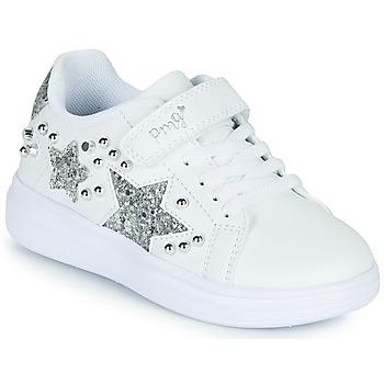 Sapatos Rapariga Sapatilhas Primigi NOLLA Branco / Prata