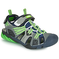 Sapatos Rapaz Sandálias desportivas Primigi ANATI Cinza / Verde