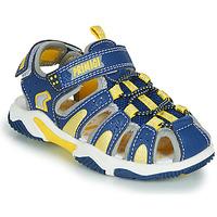 Sapatos Rapaz Sandálias desportivas Primigi ISMAEL Azul / Amarelo