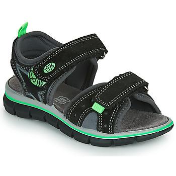 Sapatos Rapaz Sandálias Primigi NOIRA Preto / Verde