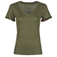 Textil Mulher T-Shirt mangas curtas Ikks BS10255-56 Cáqui