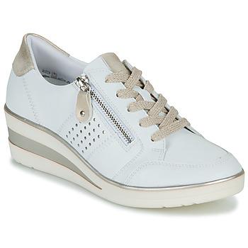 Sapatos Mulher Sapatilhas Remonte Dorndorf DORA Branco / Ouro