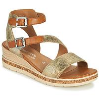 Sapatos Mulher Sandálias Remonte Dorndorf BALANCE Ouro / Castanho