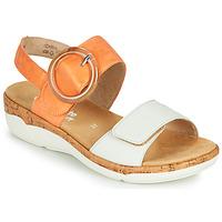 Sapatos Mulher Sandálias Remonte Dorndorf ORAN Laranja / Branco