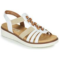 Sapatos Mulher Sandálias Remonte Dorndorf GRISSA Branco / Cinza