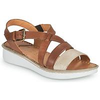 Sapatos Mulher Sandálias Casual Attitude ODETTE Camel / Ouro