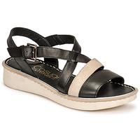 Sapatos Mulher Sandálias Casual Attitude ODETTE Preto / Ouro