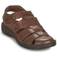 Sapatos Homem Sandálias Casual Attitude ODOUNE Castanho