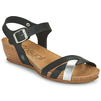 Sapatos Mulher Sandálias Casual Attitude OYA Preto / Prata