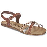 Sapatos Mulher Sandálias Casual Attitude ODIA Camel / Ouro