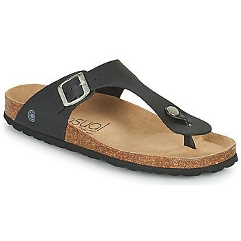 Sapatos Mulher Chinelos Casual Attitude OXOA Preto