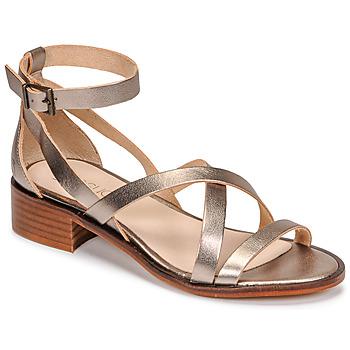 Sapatos Mulher Sandálias Casual Attitude COUTIL Ouro