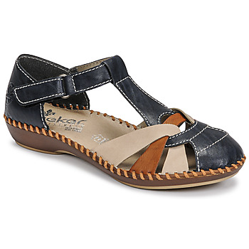 Sapatos Mulher Sandálias Rieker BLUE Azul / Castanho