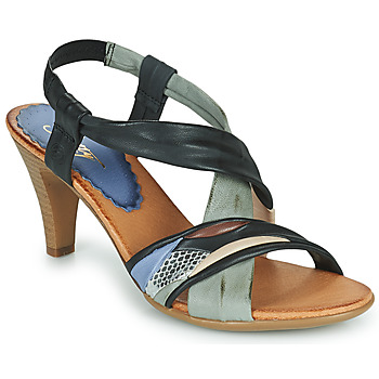 Sapatos Mulher Sandálias Betty London POULOI Preto / Cinza
