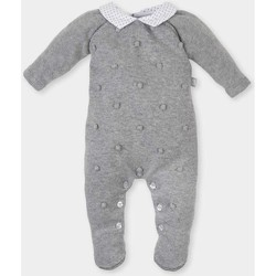 Textil Rapariga Macacões/ Jardineiras Tutto Piccolo Pelele tricot m/larga Cinza