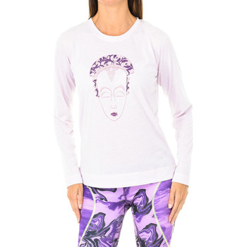 Textil Mulher T-shirt mangas compridas Buff Camiseta m/larga Rosa