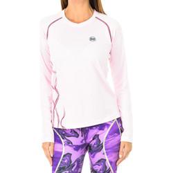 Textil Mulher T-shirt mangas compridas Buff Camiseta técnica m/larga Rosa